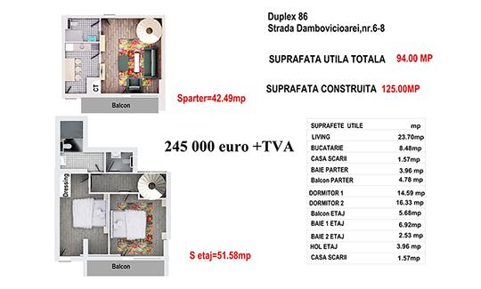 Duplex 86 - Str. Dambovicioarei