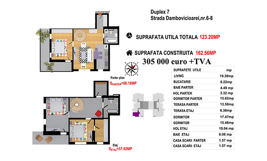 Duplex 7 Ap2 - Str. Dambovicioarei