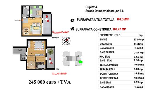 Duplex 4 Ap.84 - Str. Dambovicioarei