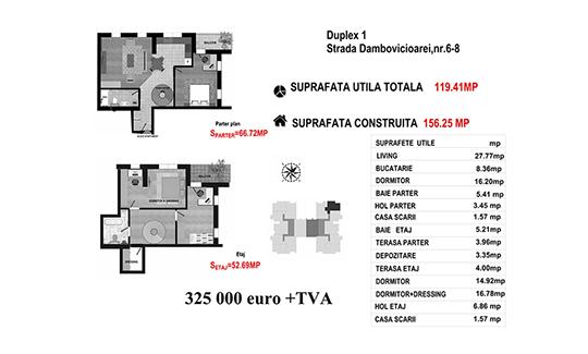 Duplex 1 Ap.87 - Str. Dambovicioarei