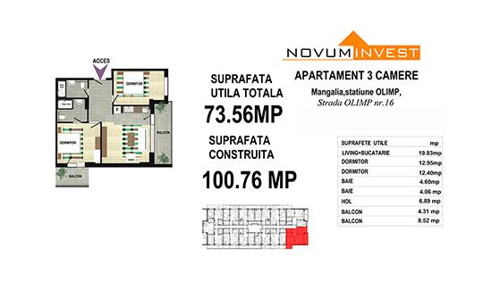 Apartamente 3 camere - Olimp Mangalia