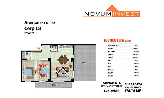Apartament nr. 62, corp C3 - Splaiul Independentei